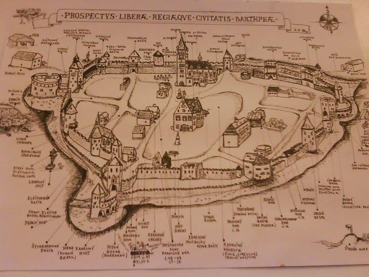 Historická Mapa Bardejov